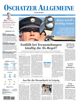 Oschatzer Allgemeine Zeitung vom Freitag, 08.10.2021
