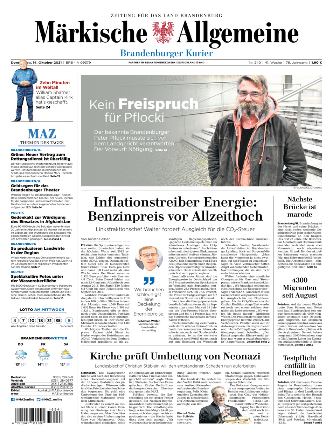 Brandenburger Kurier vom Donnerstag, 14.10.2021