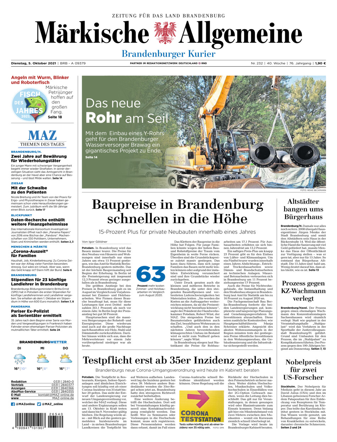 Brandenburger Kurier vom Dienstag, 05.10.2021