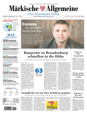 Neue Oranienburger Zeitung vom Dienstag, 05.10.2021