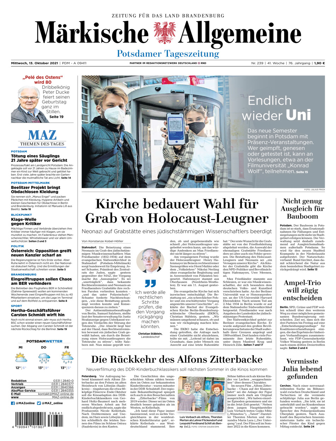Potsdamer Tageszeitung vom Mittwoch, 13.10.2021