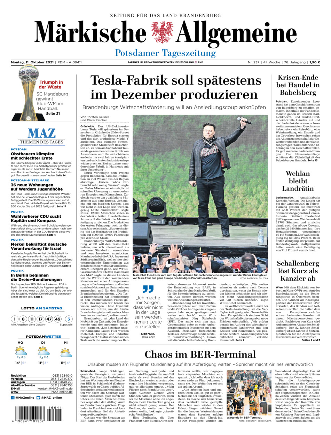 Potsdamer Tageszeitung vom Montag, 11.10.2021