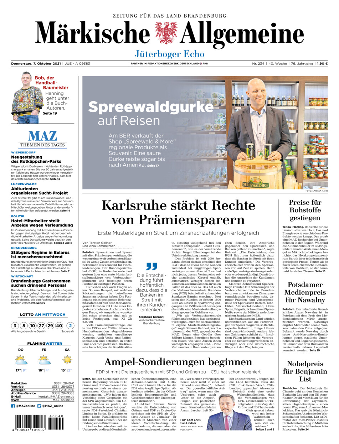 Jüterboger Echo vom Donnerstag, 07.10.2021