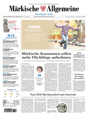 Jüterboger Echo vom Samstag, 09.10.2021