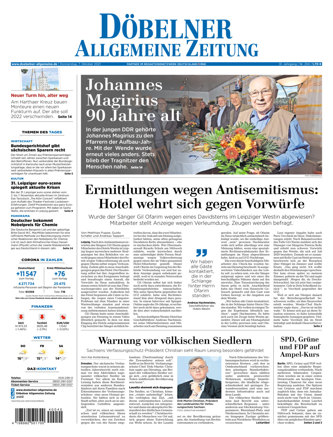 Döbelner Allgemeine Zeitung vom Donnerstag, 07.10.2021