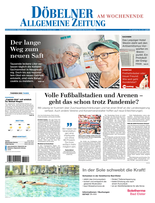 Döbelner Allgemeine Zeitung vom Samstag, 09.10.2021