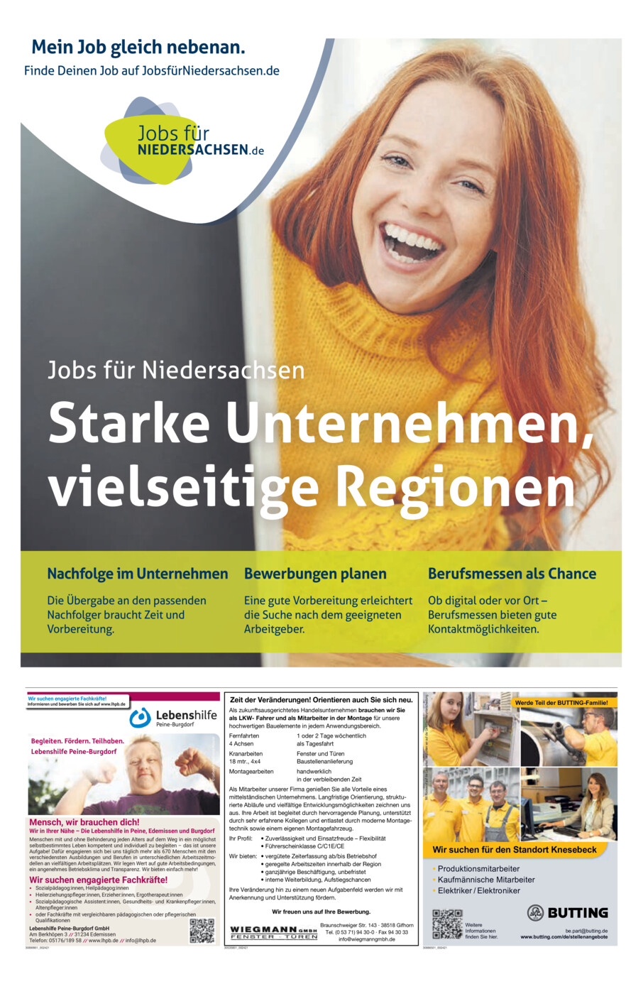 Jobs für Niedersachsen